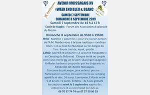 WEEKEND BLEU ET BLANC 2019